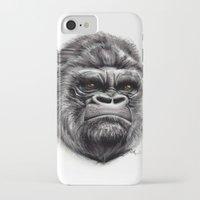 gorilla iPhone & iPod Cases featuring Gorilla by Creadoorm