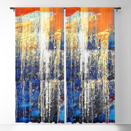 Golden Dawn, Abstract Landscape Art Blackout Curtain