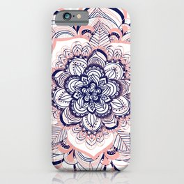 Woven Dream - Mandala in Pink, White and deep Purple iPhone Case