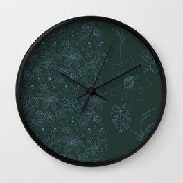 Botanical Garden in the Moonlight Wall Clock