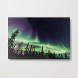 Aurora during geomagnetic storm in Yellowknife, Canada Metal Print