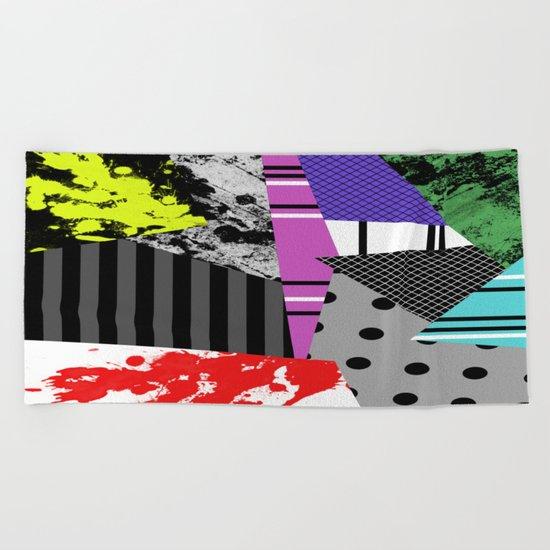 Pick A pattern II - geometric, textured, colourful, splatter, stripes, marble, polka dot, grid Beach Towel