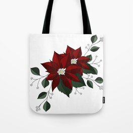 Nochebuena Poinsettia Tote Bag
