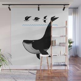 Oh Whale, I'm like a bird. Wall Mural