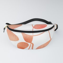 Organic abstract watercolor in living coral Fanny Pack