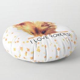 I LOVE YORKIES   Dogs   nb Floor Pillow