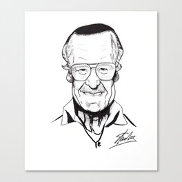 Stan Lee - The King Canvas Print