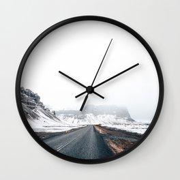Icelandic landscape in winter Wall Clock