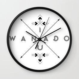 IWANADOU Wall Clock