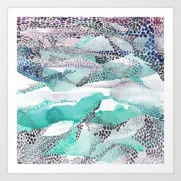 Reflection dream; sea blue Art Print