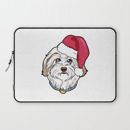 Havanese Dog Christmas Hat Present Laptop Sleeve