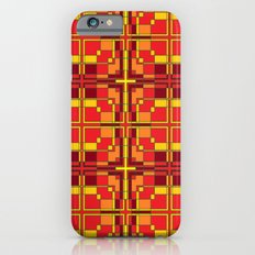 Red and Yellow Cross Pattern Slim Case iPhone 6s