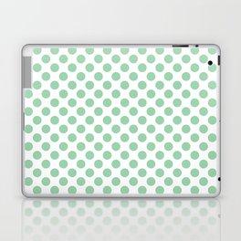 Small Mint Green Polka Dots Laptop & iPad Skin