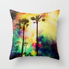 Fantasy sky palms Throw Pillow