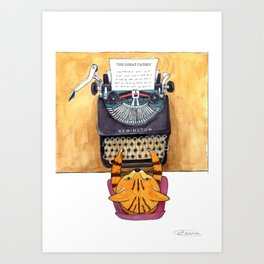 The Great Catsby. Art Print