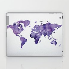 Purple World Map 01 Laptop & iPad Skin