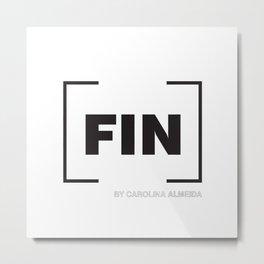 [FIN] White Metal Print