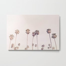 Sunny Cali Palm Trees Metal Print