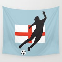 england Wall Tapestries featuring England - WWC by Alrkeaton