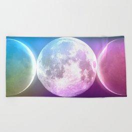 Moon Triple Goddess Rainbow Beach Towel