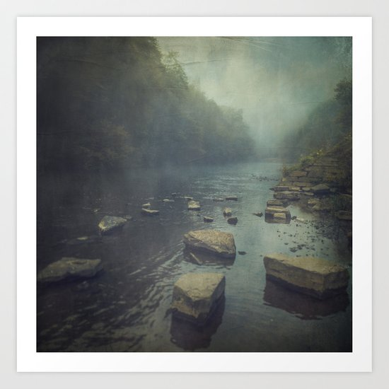 water and stone Art Print