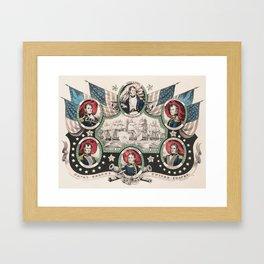 U.S. Naval Heroes - War of 1812 - Battle of Lake Erie Framed Art Print