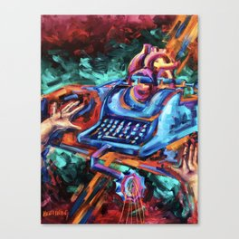 """The Crucifixion of a Writer"" Painting Canvas Print"
