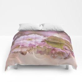 Cherry Blossom LOVE - Sakura - Pink Flower Flowers Comforters