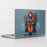 x men Laptop & iPad Skins featuring Jean Grey / X-Men by jerseytigermoth