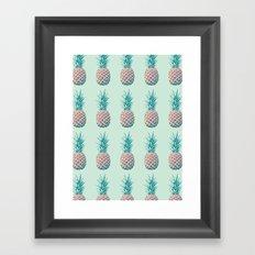 Pineapple Pattern Framed Art Print