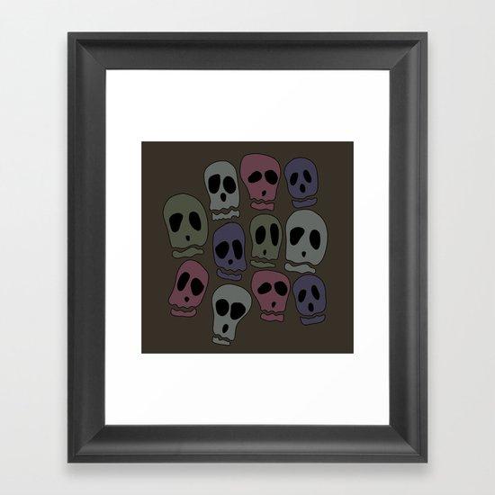Skulls-2 Framed Art Print