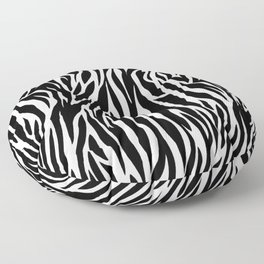 Black And White Zebra Stripes Floor Pillow