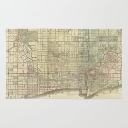 Vintage Map of Chicago (1857) Rug