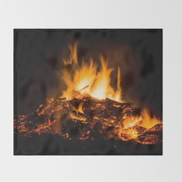 Fire flames Throw Blanket