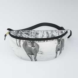Winter Wildlife - Deer Fawn Forest Adventure Nature Photography Fanny Pack