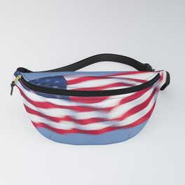 The us flag Fanny Pack