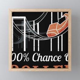 Roller Coaster Ride Fan Adrenaline Junkies Forecast Framed Mini Art Print