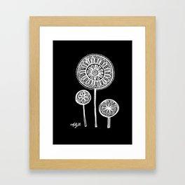 White Flower 136 Framed Art Print