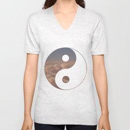 Yin Yang Clouds Unisex V-Neck