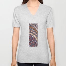 Abstract with leaves Unisex V-Neck