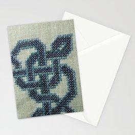 Celtic Knot Cross Stitch in Blue Stationery Cards