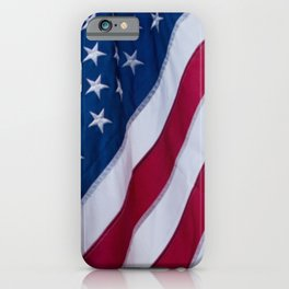 American Flag Close Up iPhone Case