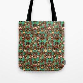 Tiki Head Pattern Tote Bag