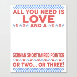 German Shorthaired Pointer Ugly Christmas Sweater Canvas Print