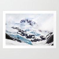 Byron Glacier, Alaska Art Print