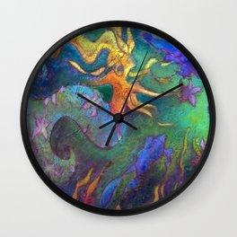 Hestia & The Mermaid PILLOW/SHOWER CURTAIN #A Wall Clock