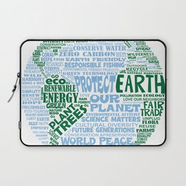 Protect Earth Word Bubble Laptop Sleeve