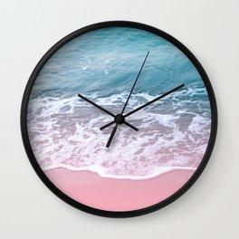 Pink Ocean Beauty Dream #1 #wall #decor #art #society6 Wall Clock