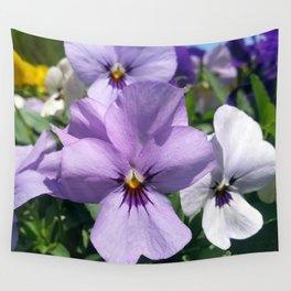Light Purple Pansies Wall Tapestry