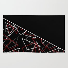 Abstract black combo pattern . Triangles Rug